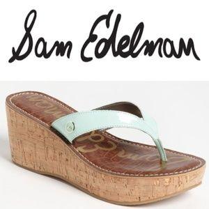 Sam Edelman  Platform Sandal wedge Women size 8 M
